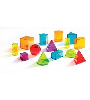 Forme geometrice colorate - Jucării matematică