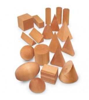 Forme geometrice din lemn (set 19) - Jucării matematică