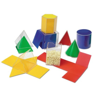 Forme geometrice pliante - 16 piese - Jucării matematică