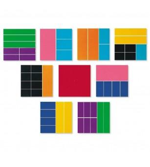 Geometria fractiilor - Patrate - Jucării matematică