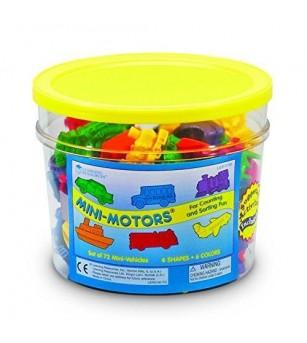 Mini vehicule pentru numarat - set 72 buc - Matematică