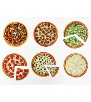 Pizza fractiilor cu magneti - Jucării matematică