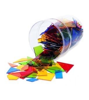 Poligoane colorate - set 450 buc - Jucării matematică