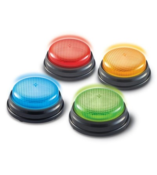 Sonerii cu lumini si sunete pentru raspuns - set 4 buc - Jocuri STEM