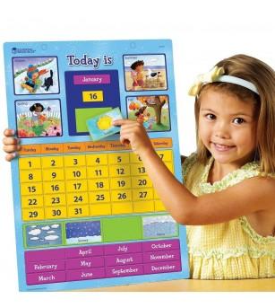 Calendar educativ magnetic - Ceas și calendar
