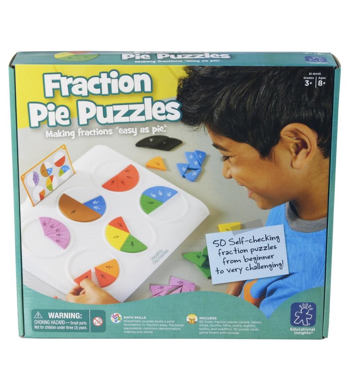 Placinta fractiilor - Jucării matematică