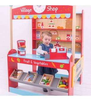 Joc de rol - Magazinul oraselului - Case de marcat de jucarie si jucarii supermarket