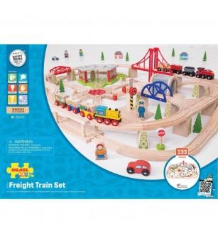 Circuit cu tren marfar (133 piese) - Vehicule de jucărie
