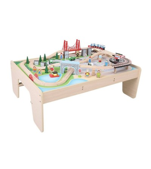 Masuta cu trenuletul orasului - Jucării de lemn si Montessori