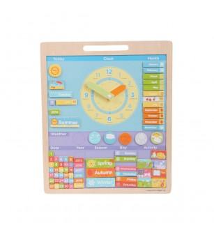 BigJigs Vremea - Calendar magnetic in limba engleza - Ceas și calendar