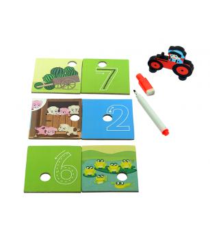 Joc de potrivire Chalk and Chuckles - Fermierul istet - Jocuri de memorie și asociere