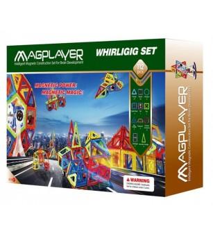 Joc de constructie magnetic MagPlayer - 112 piese - Jucarii magnetice