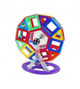 Joc de constructie magnetic MagPlayer - 118 piese - Jucarii magnetice