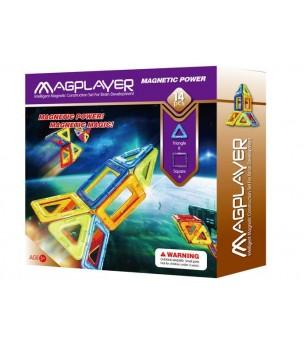 Joc de constructie magnetic MagPlayer - 14 piese - Jucarii magnetice