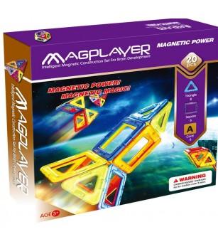 Joc de constructie magnetic MagPlayer - 20 piese