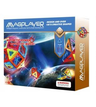 Joc de constructie magnetic MagPlayer - 30 piese - Jucarii magnetice