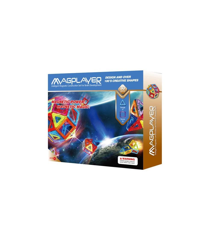 Joc de constructie magnetic MagPlayer - 30 piese