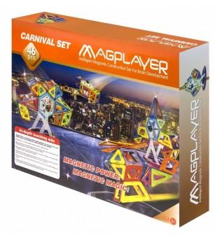 Joc de constructie magnetic MagPlayer - 46 piese