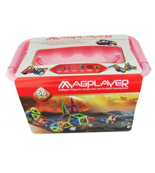 Joc de constructie magnetic MagPlayer - 66 piese