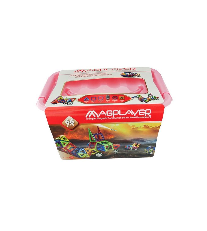 Joc de constructie magnetic MagPlayer - 66 piese - Jucarii magnetice
