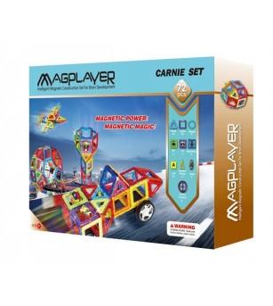 Joc de constructie magnetic MagPlayer - 72 piese