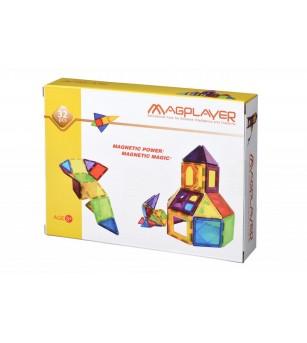 Set de constructie magnetic MagPlayer - 32 piese