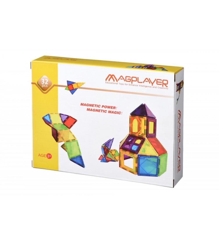 Set de constructie magnetic MagPlayer - 32 piese - Jucarii magnetice