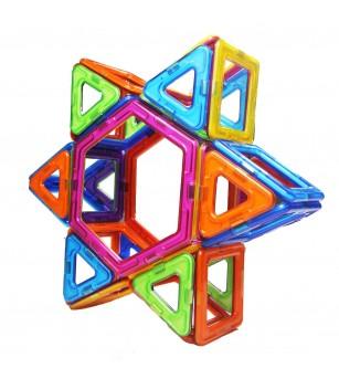 Set de constructie magnetic MagPlayer - 66 piese - Jucarii magnetice