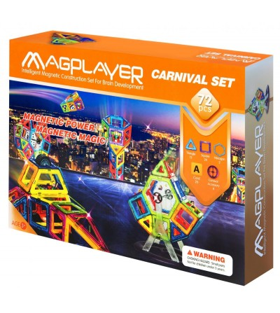 Set de constructie magnetic MagPlayer - 72 piese