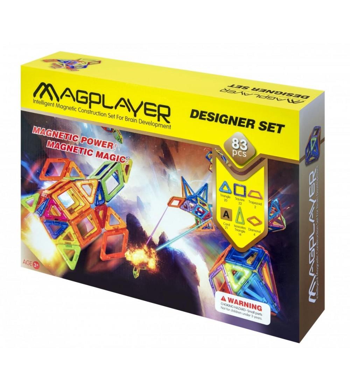 Set de constructie magnetic MagPlayer - 83 piese