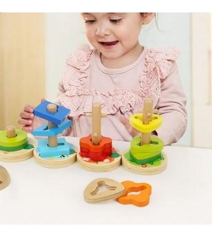Joc de potrivire - Omiduta vesela - Jucării de lemn si Montessori