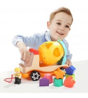 Joc de sortare - Prima mea betoniera - Jucării de lemn si Montessori