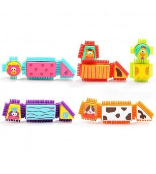 Set de constructie - Animalute de la ferma - Jocuri construcție