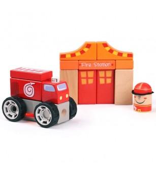 Set de constructie - Sectia de pompieri - Jocuri construcție