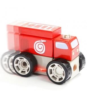 Set de constructie - Sectia de pompieri - Jucării de lemn si Montessori