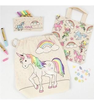 Rucsac panza pentru colorat - model Unicorn - Crafturi