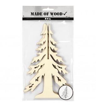 Bradut din lemn 3D, 20 cm