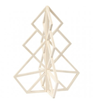 Bradut din lemn 3D, 40 cm