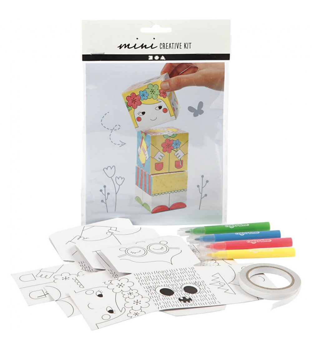 Mini kit creativ - Cuburi carton Printesa