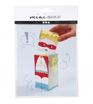 Mini kit creativ - Cuburi carton Monstri - Crafturi