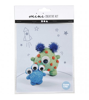 Mini kit creativ - Monstri - Plastilină și modelare