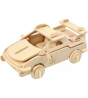 Kit 3D din placaj de lemn - Masina - Jocuri construcție