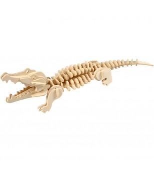 Kit 3D din placaj de lemn - Crocodil - Puzzle-uri