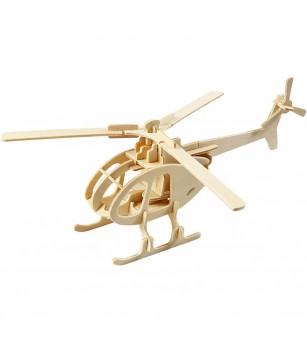 Kit 3D din placaj de lemn - Elicopter - Jocuri construcție