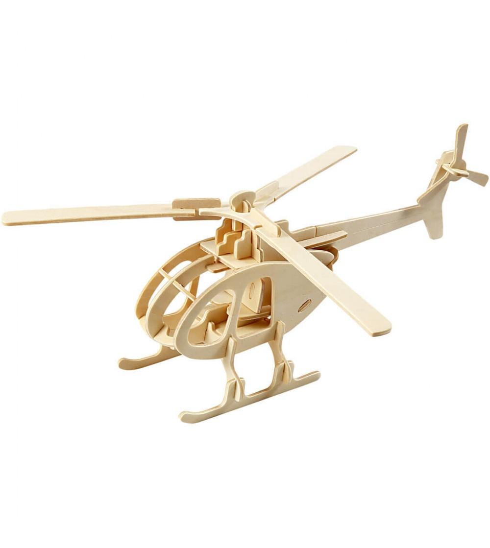 Kit 3D din placaj de lemn - Elicopter