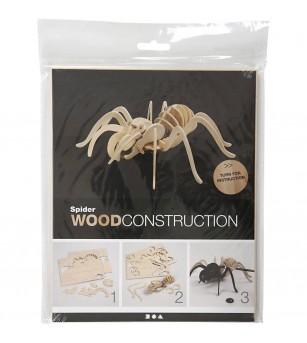 Kit 3D din placaj de lemn - Paianjen - Jocuri construcție