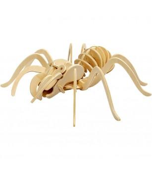 Kit 3D din placaj de lemn - Paianjen