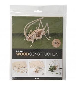 Kit 3D din placaj de lemn - Gandac - Jocuri construcție