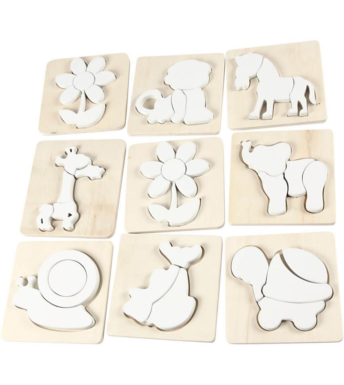 Puzzle nevopsit, din lemn - Crafturi