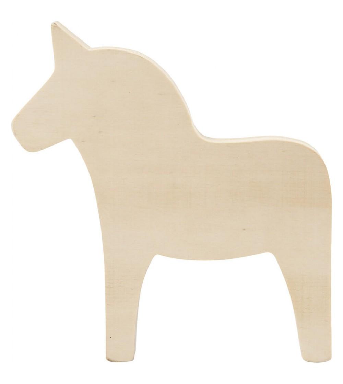 Unicorn din placaj de lemn, H17 cm - Crafturi